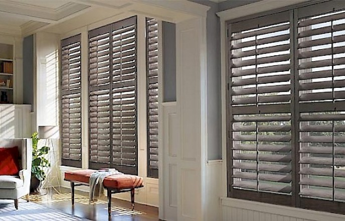 Plantation Shutters In The Living Room